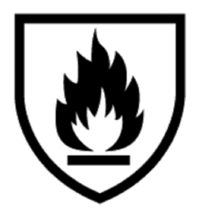 EN11612 Symbol (protection against heat and flame)
