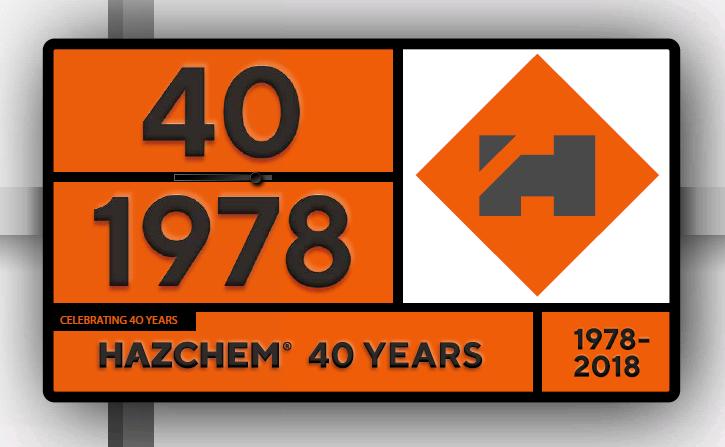 Hazchem plate 40 years