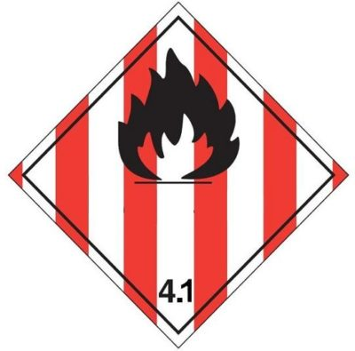 Class 4.1 : Flammable Solids-self-reactive substances and desensitized explosives