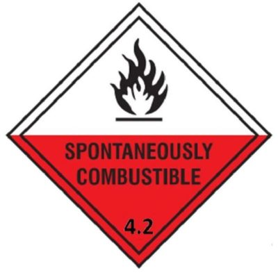 Class 4.2 Substances liable to spontaneous combustion