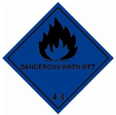 Class 4.3 Substances which, in contact with water, emit flammable gases