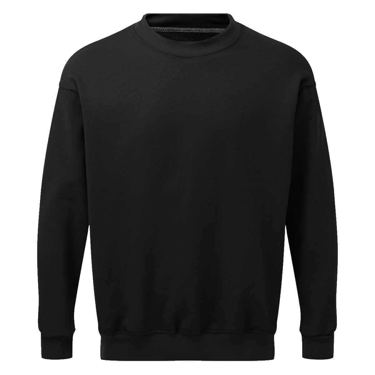 AS2330 AS2330 HAZTEC® Bakken FR AS Inherent SweatshirtBlack_Back LR Black_Front LR
