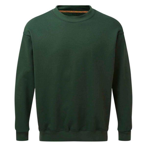 AS2330 HAZTEC® Bakken FR AS Inherent Sweatshirt Green_Front LR