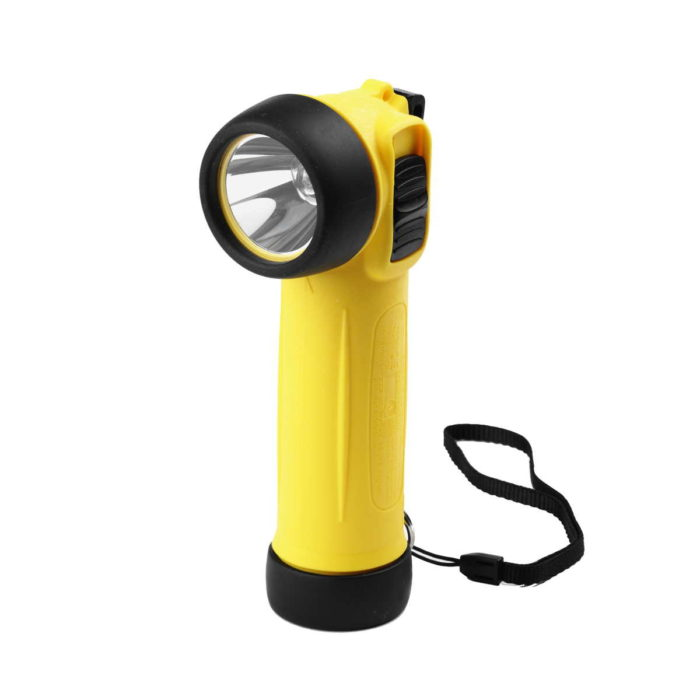 PL0150 Yellow Right Angle ATEX Safety Torch