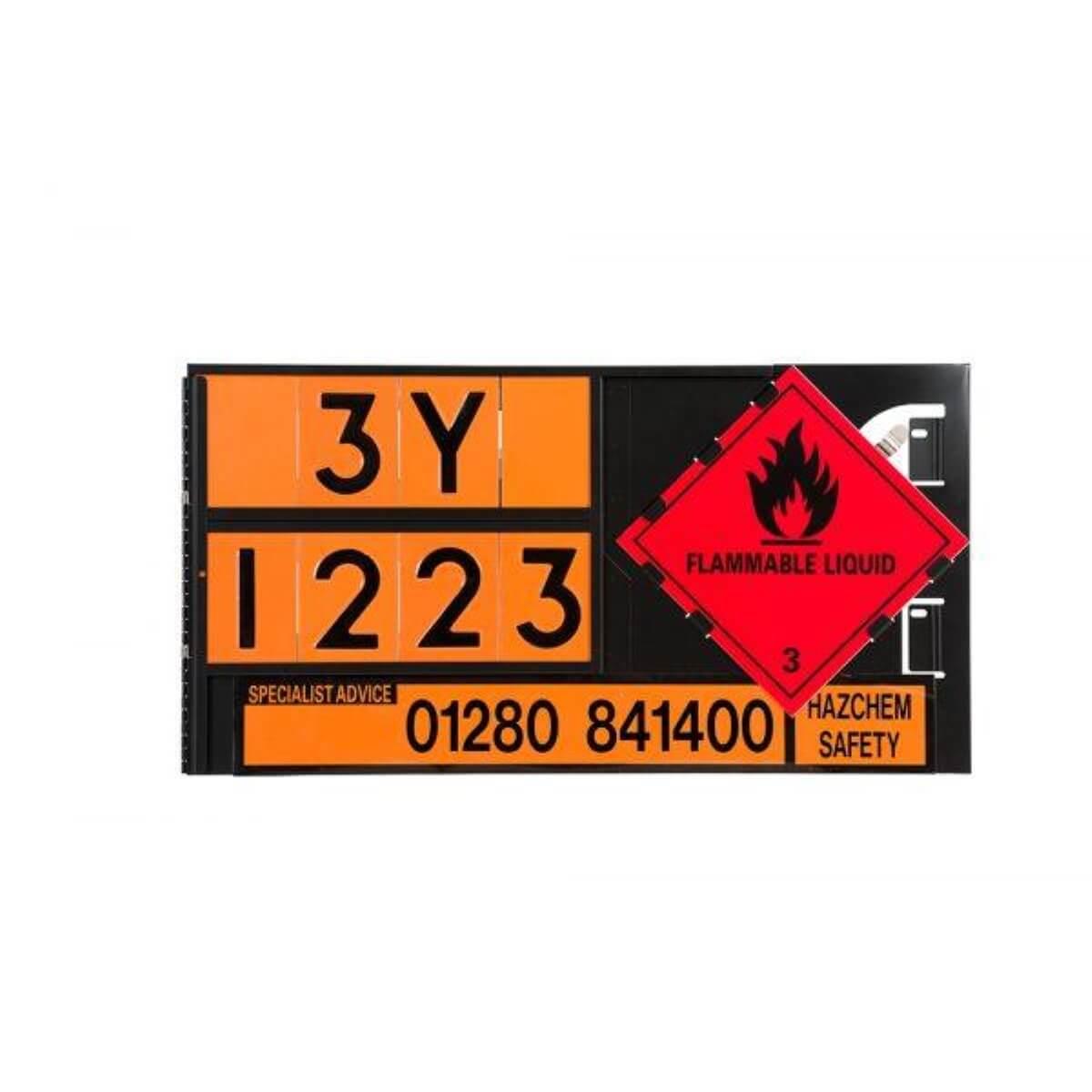 VS2263-With Digits Hazchem Triplex ADR Panel Holder 700x400mm