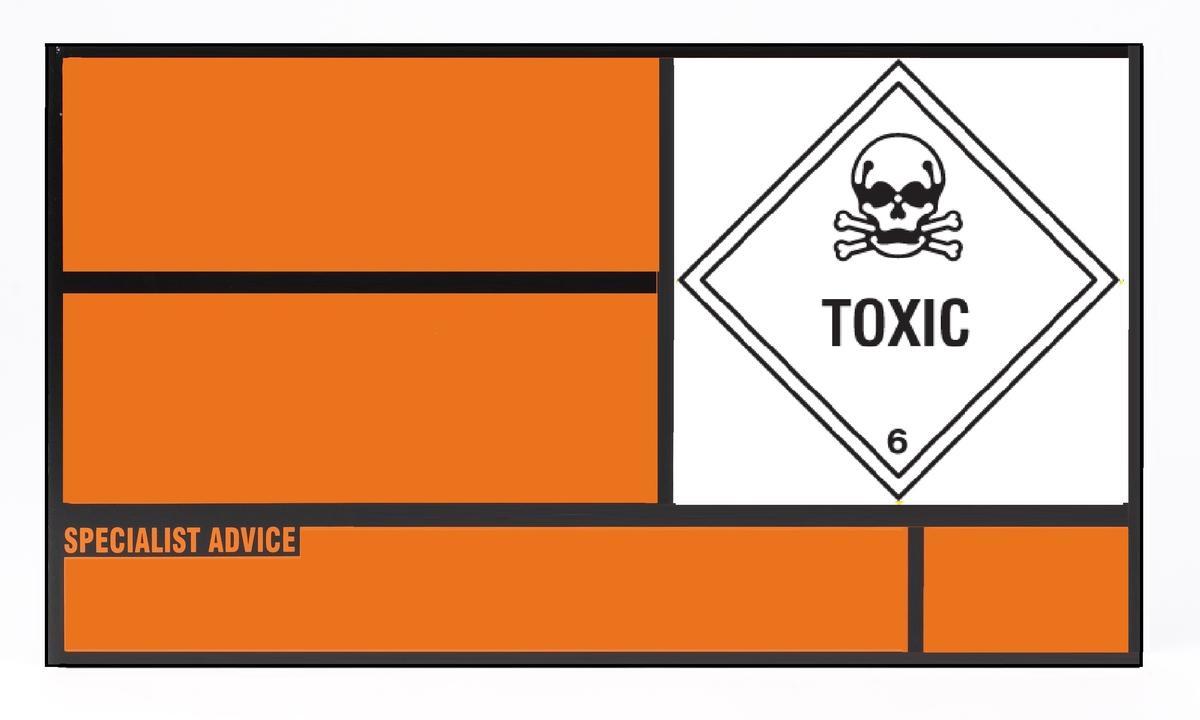 Orange placard on truck