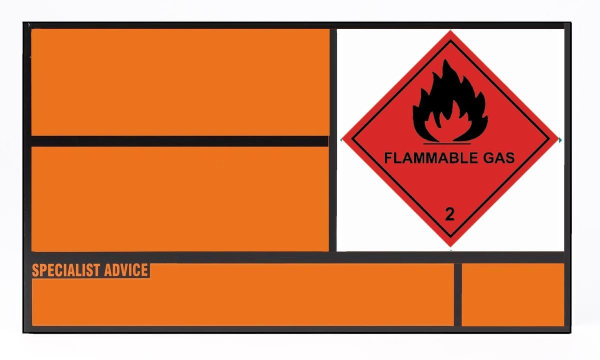 Un Placard For Static Tanks Aluminium 700x400mm Class 2