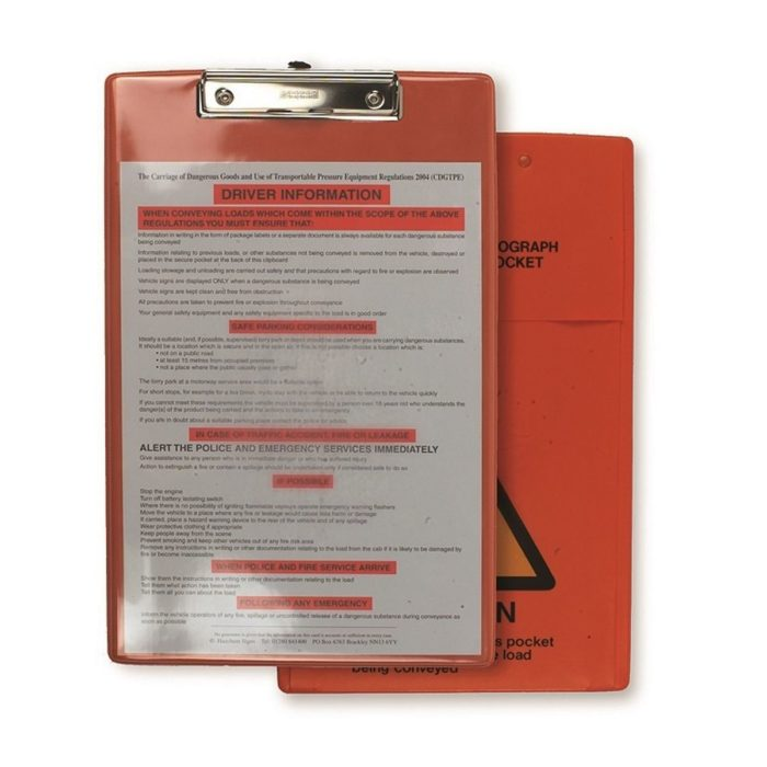 AE0091 ADR Clipboard with Document Pocket