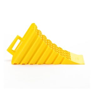 AE0110 Large Wheel Chock in yellow plastic