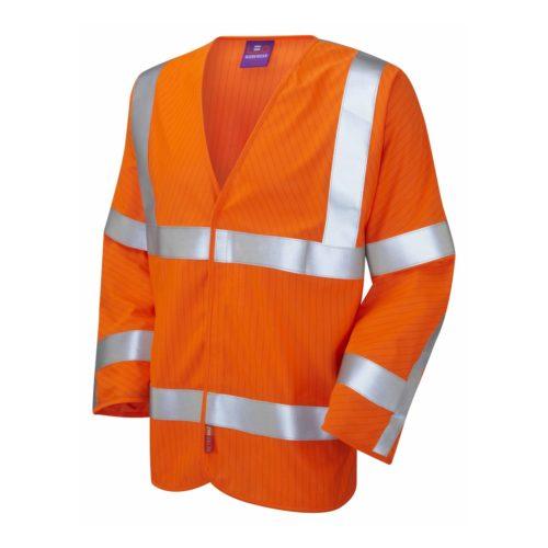 Hi-Vis Inherent Anti-Static and Flame Retardant Long Sleeve Waistcoat