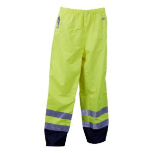 Microflex Anti-Static Flame Retardant Hi-Vis Two Tone Rain Trousers