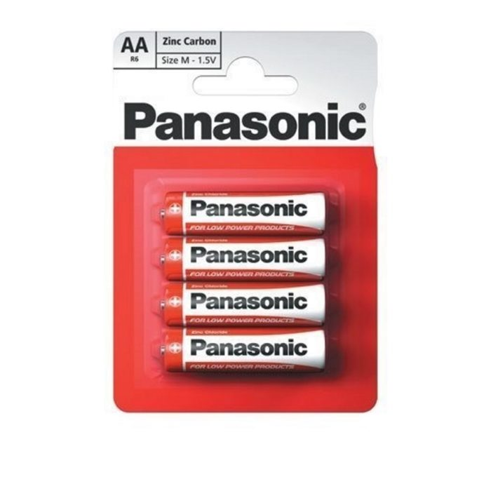 PL5006 Panasonic Zinc Chloride AA Batteries Pack of 4