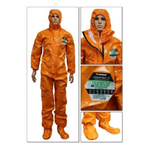 ChemMAX 3 Plus Type 3,4,5&6 Coverall c/w Attached Feet & Velcro fastening