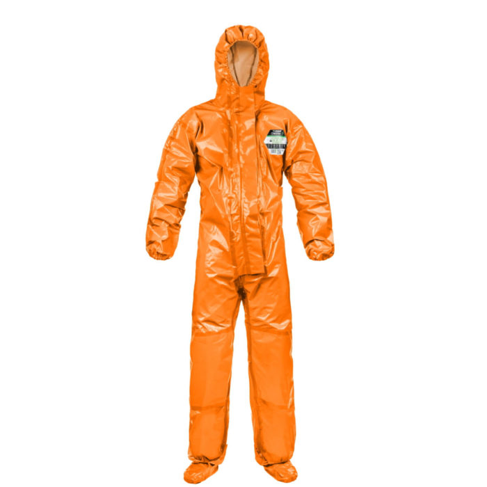 DC8073 Orange ChemMAX 3 Plus Type 3,4,5&6 Coverall c/w Attached Feet