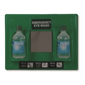 Emergency Double Eyewash Station With Mirror