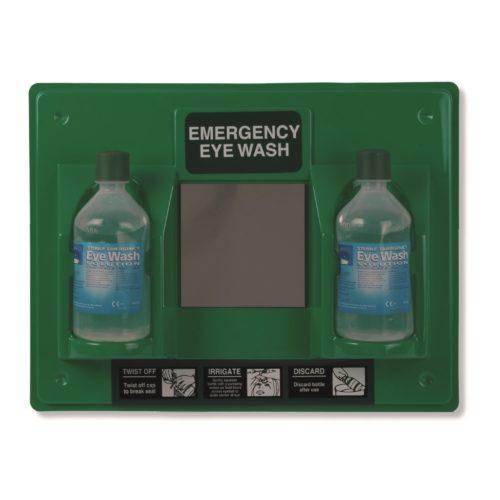 Emergency Double Eyewash Station With Mirror