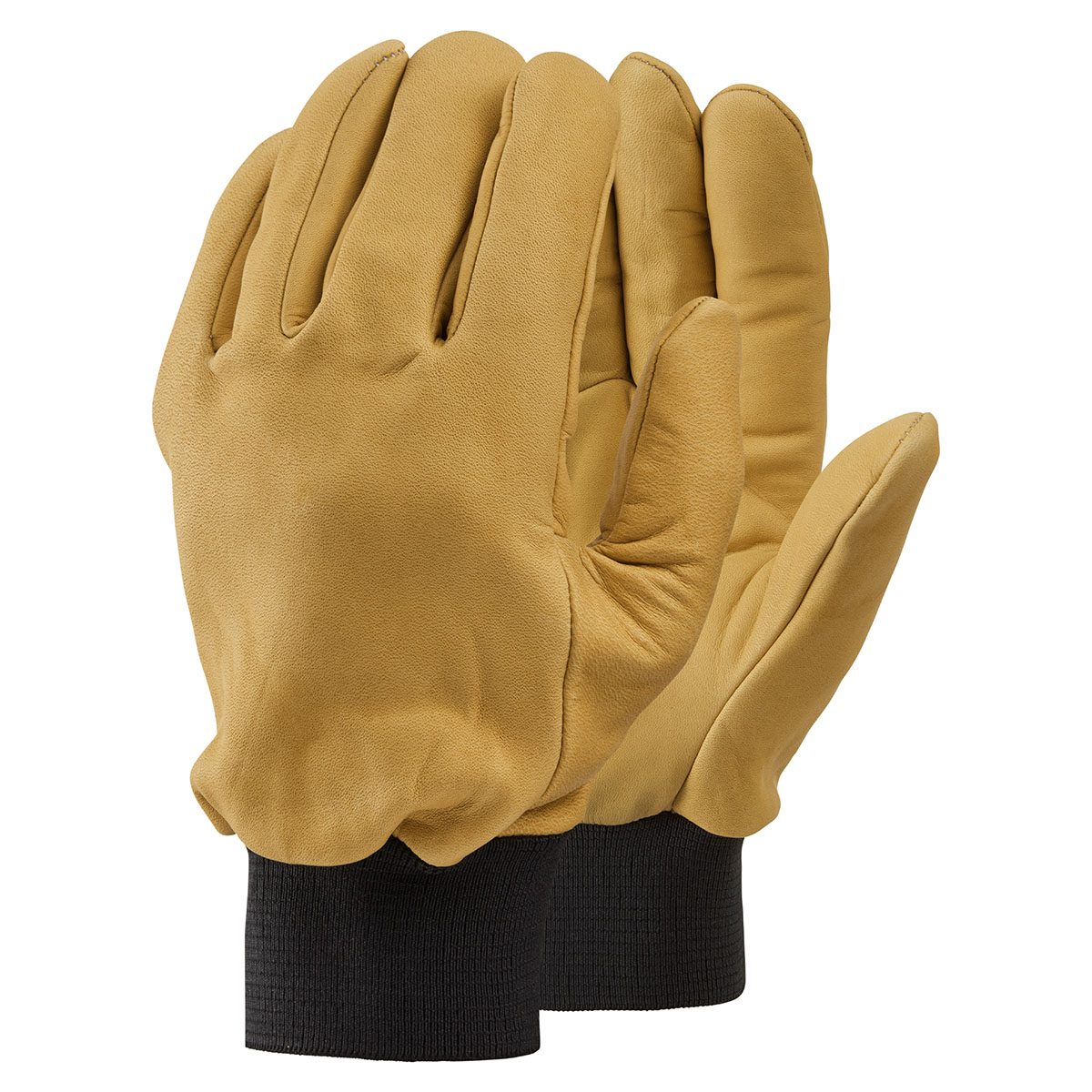GL6742 Fleece Lined Water-Repellent Leather Drivers Glove