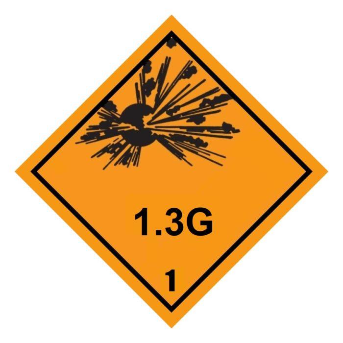 HD2129 Class 1.3G Placard