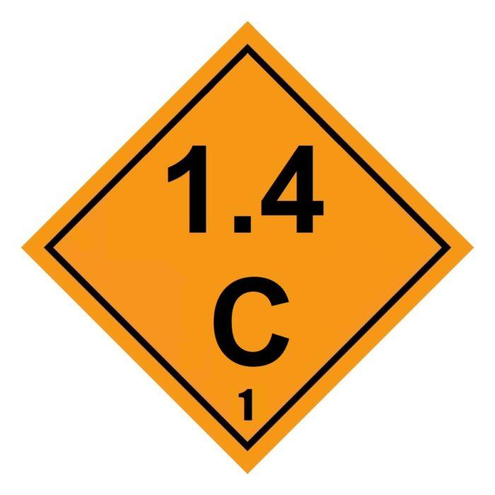 HD2134 Class 1.4C Placard