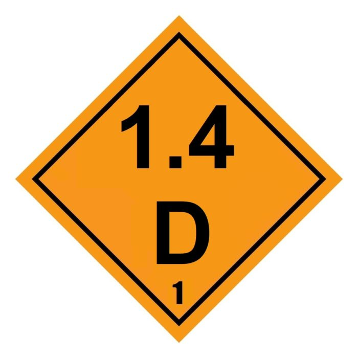 HD2135 Class 1.4D Placard