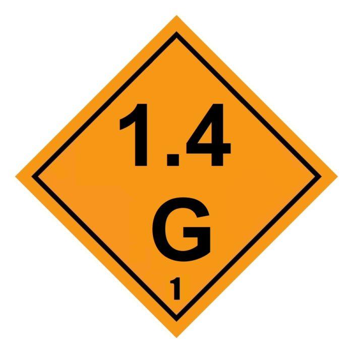 HD2138 Class 1.4G Placard