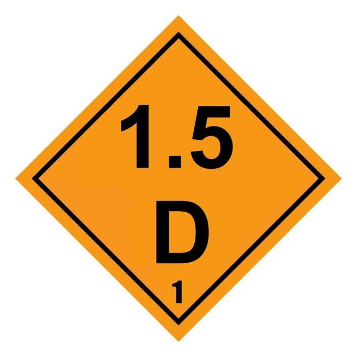 HD2151 Class 1.5D Placard