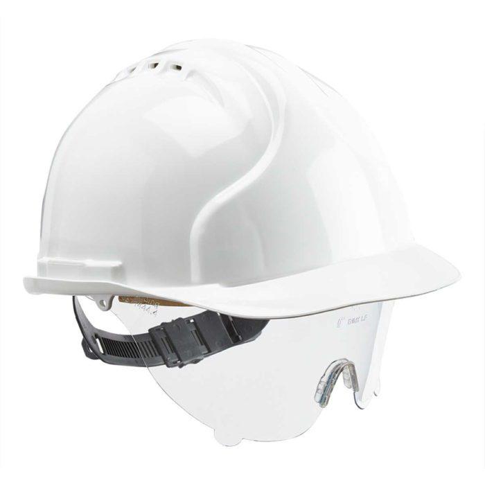 HF0170 EVO 3 Safety Helmet with Retractable Eye Shield