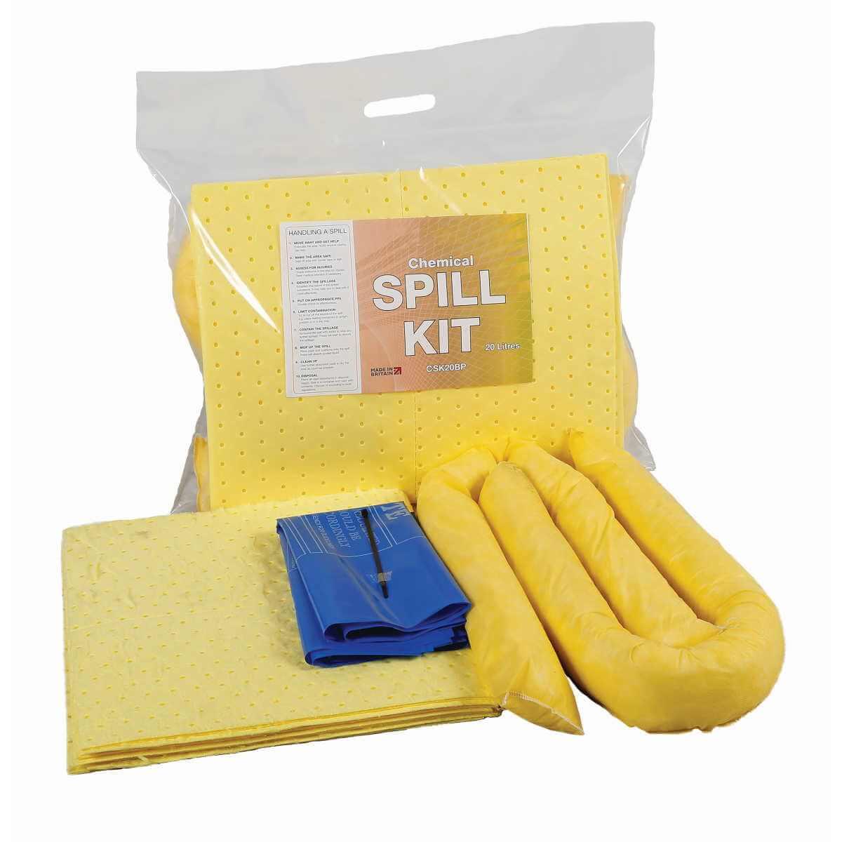 20 Litre Chemical Absorbent Spill Kit