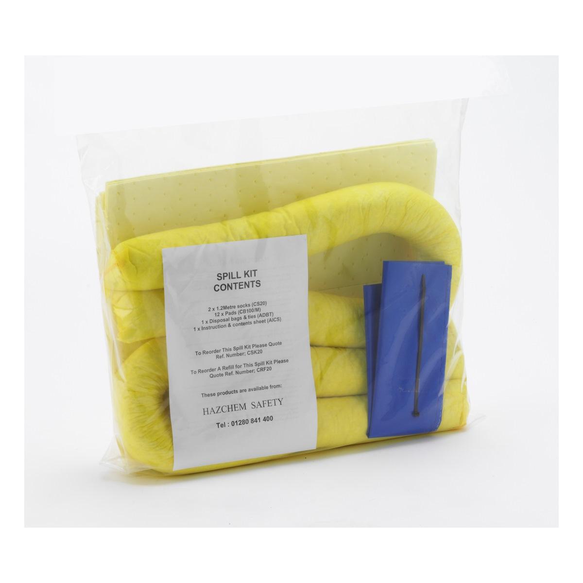 Chemical Absorbent Spill Kit 20 Litre
