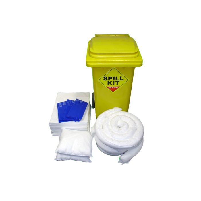 Oil Absorbent Spill Kit in Bin 100 Litre