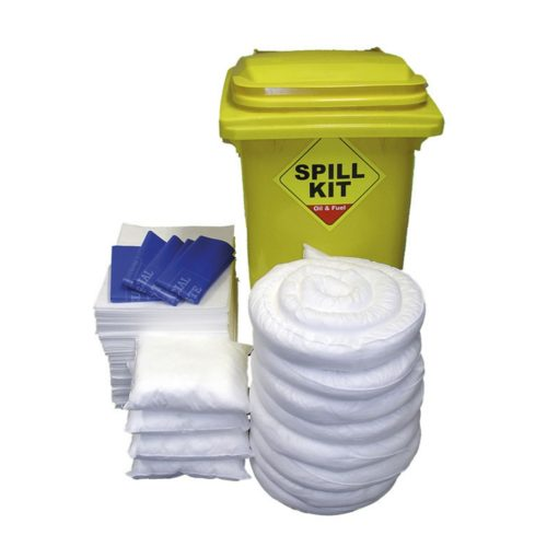 Oil Absorbent Spill Kit in Bin 200 Litre