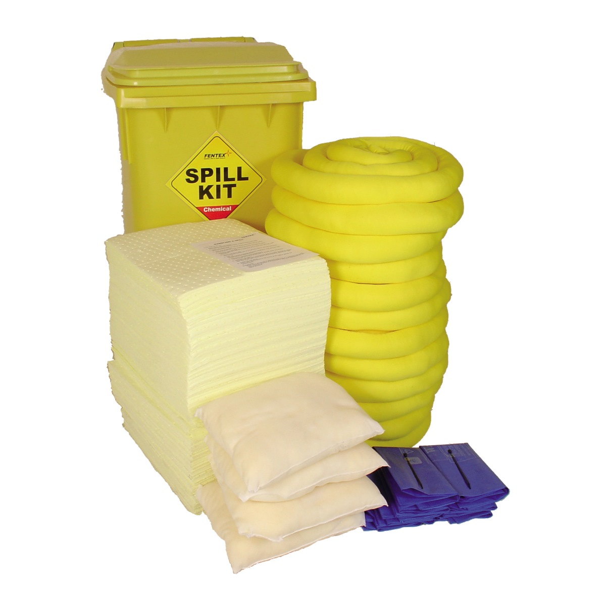 Chemical Absorbent Spill Kit in Bin 100 Litre