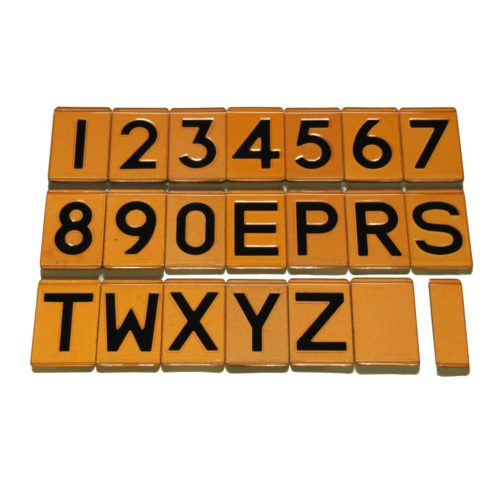 Universal Embossed Triplex Digit Set