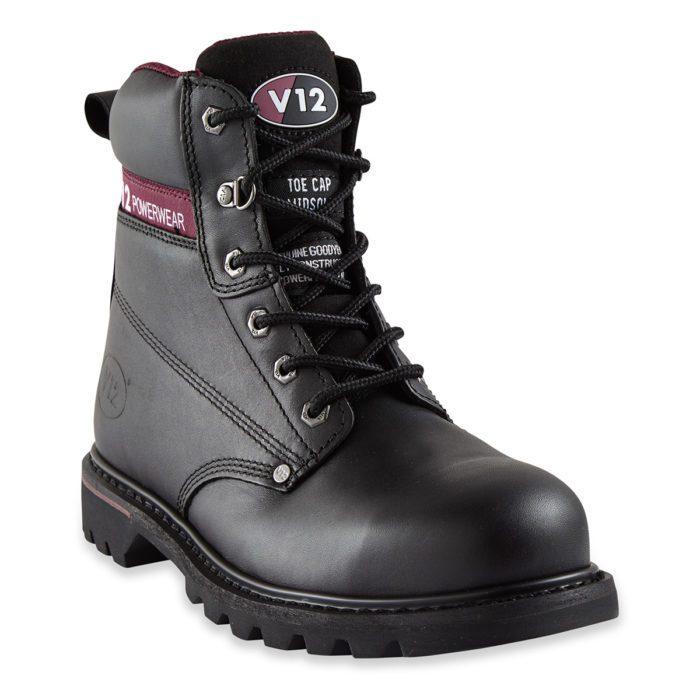 V12 Boulder Black Derby Safety Boot