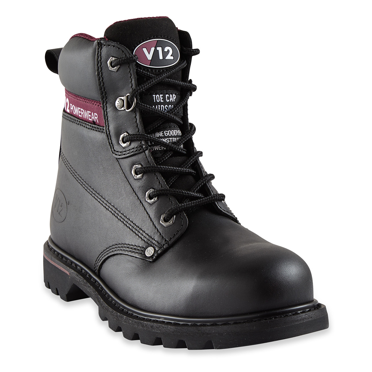 V12 Boulder Black Derby Safety Boot