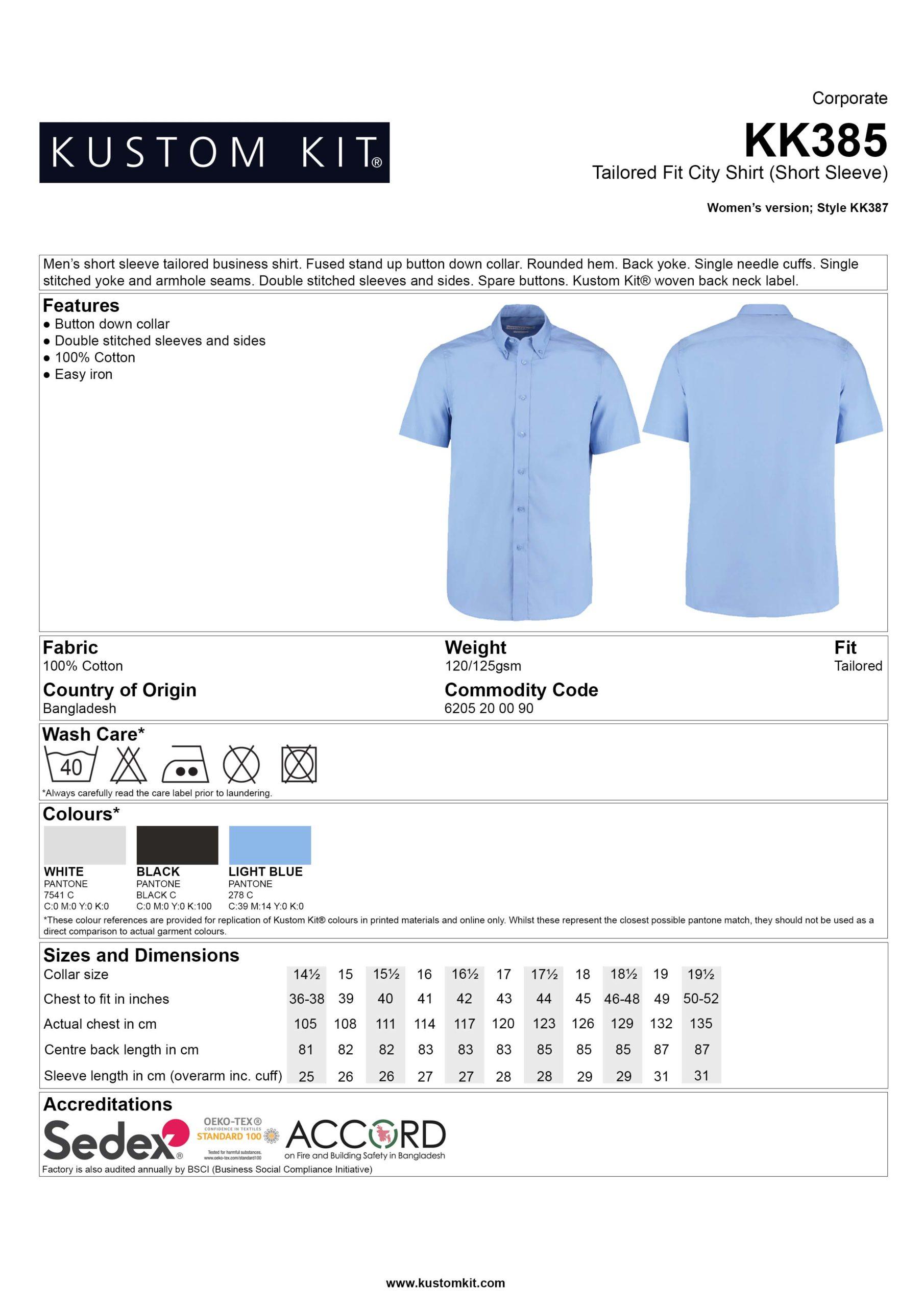 100% Cotton L/Sleeve Oxford Shirt