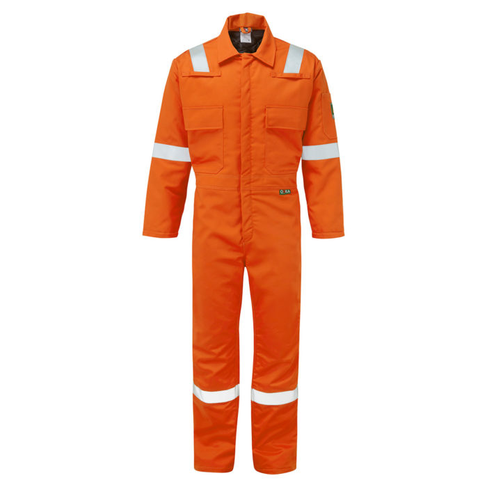 02 7341 0 ORKA FLAMETHERM 2 COLD WEATHER COVERALL ORANGE copy