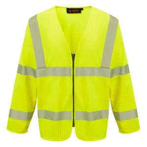 AS0510_HAZTEC_Loreto_FR_AS_Inherent_Long_Sleeved_Hi-Visibility_Waistcoat_YEL copy