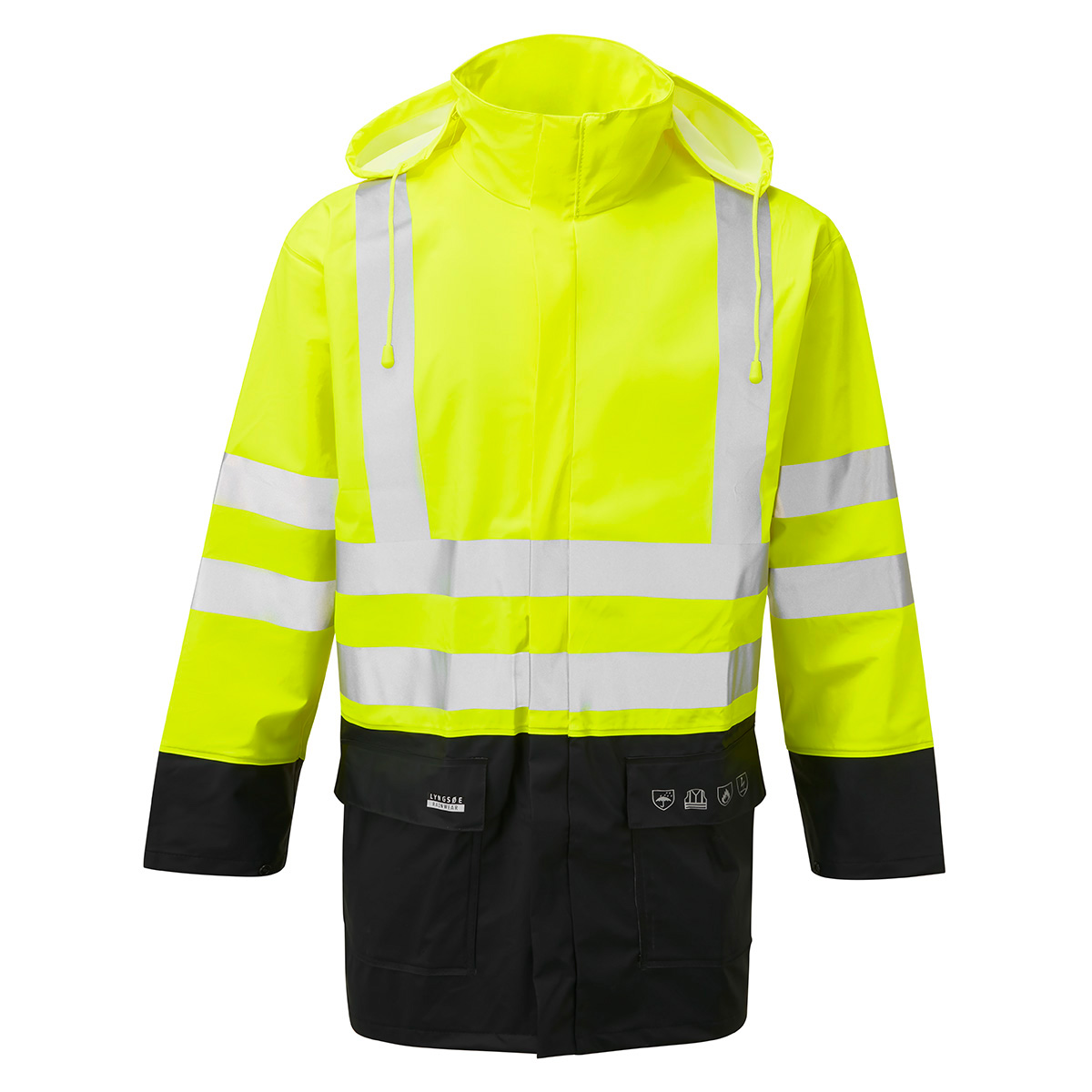 AS3055_Microflex_Anti-Static_Flame_Retardant_Two-Tone_Hi-Vis_Rain_Jacket_YEL_NVY copy