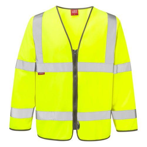 FR1202_Hi_Vis_Zipped_Long_Sleeve_Flame_Retardant_Waistcoat_YEL copy