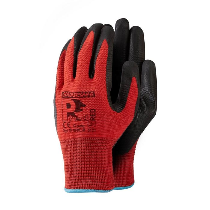 Cut 1 Ribbed Foam Nitrile Glove