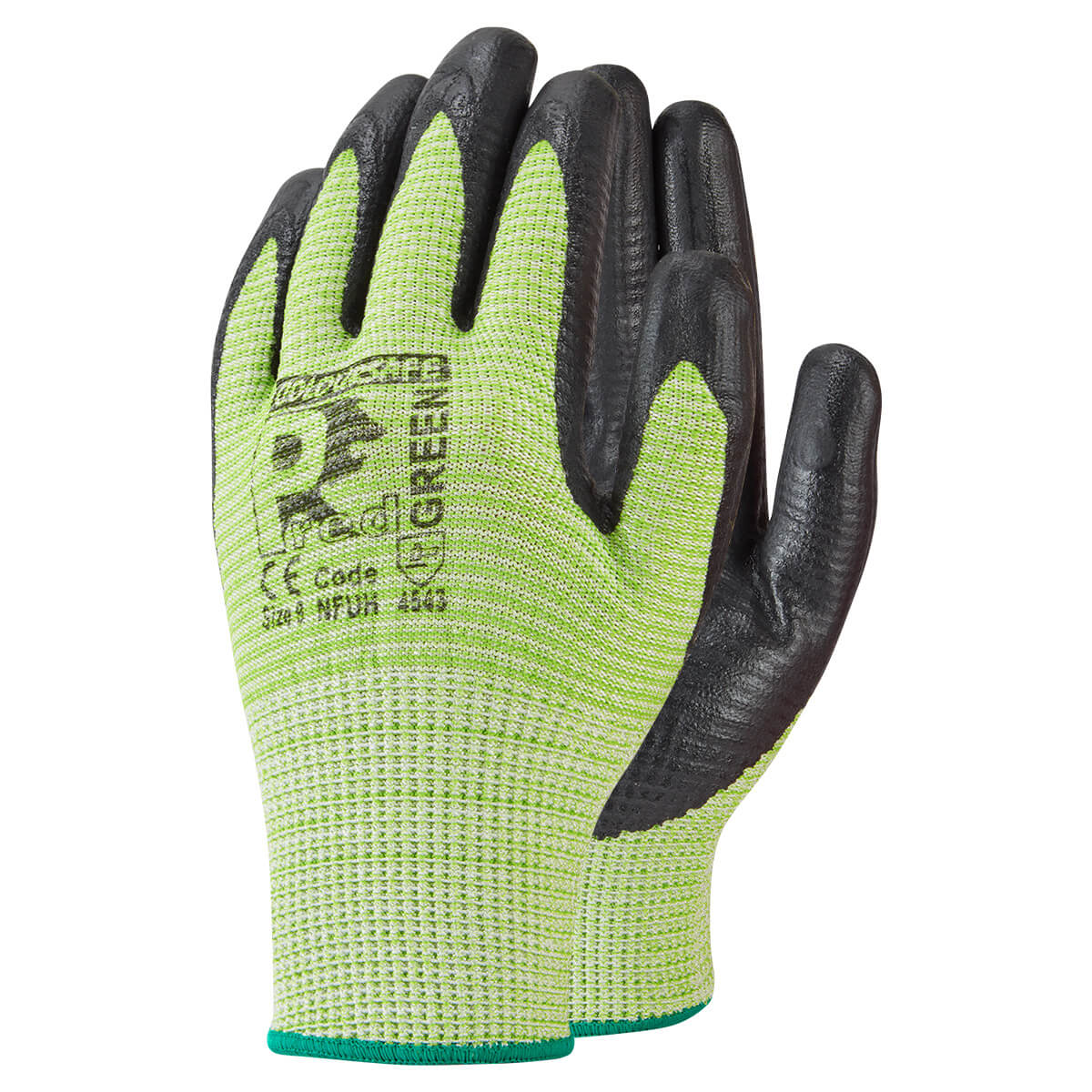 Cut 5 Nitrile Foam Ribbed Glove
