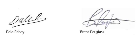 Signatures for Donside Letter Minus Mobile