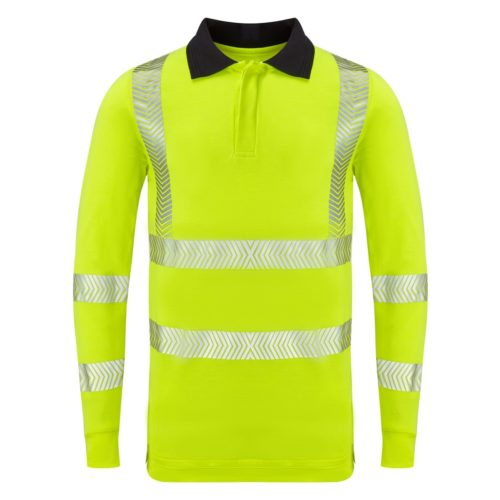Hi Vis L/S FR AS Inherent Poloshirt