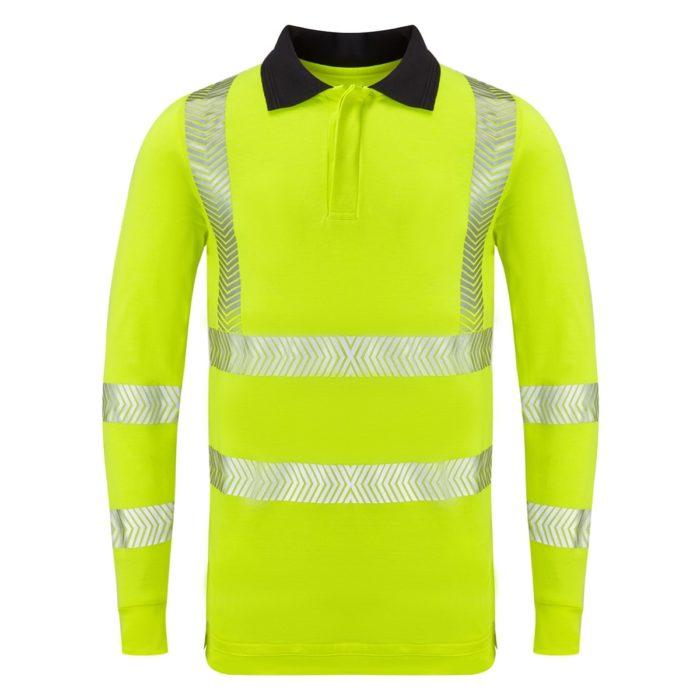 Hi Vis L/S FR AS Inherent Poloshirt