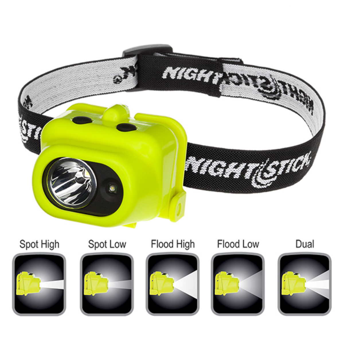 PL0009 Nightstick Intrinsically Safe Multi-Function Dual-Light Headlamp