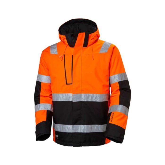HV7139 Helly Hansen Alna Winter Hi-Vis Jacket OrangeNavy