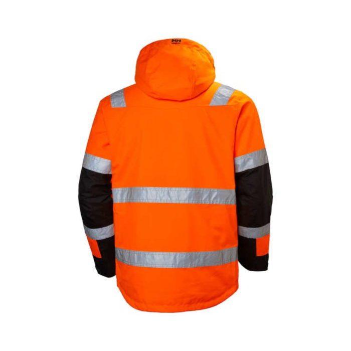 HV7139 Helly Hansen Alna Winter Hi-Vis Jacket OrangeNavy Back