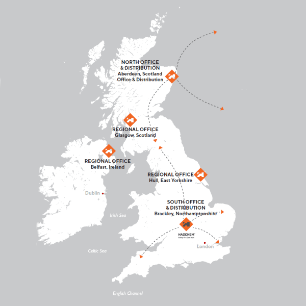 Hazchem Locations Map of Offices and Distribution