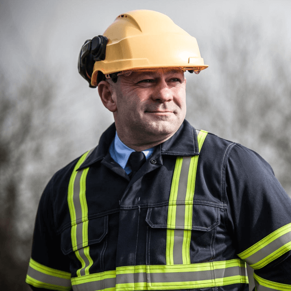 Haztec Man wearing Haztec Technical Workwear